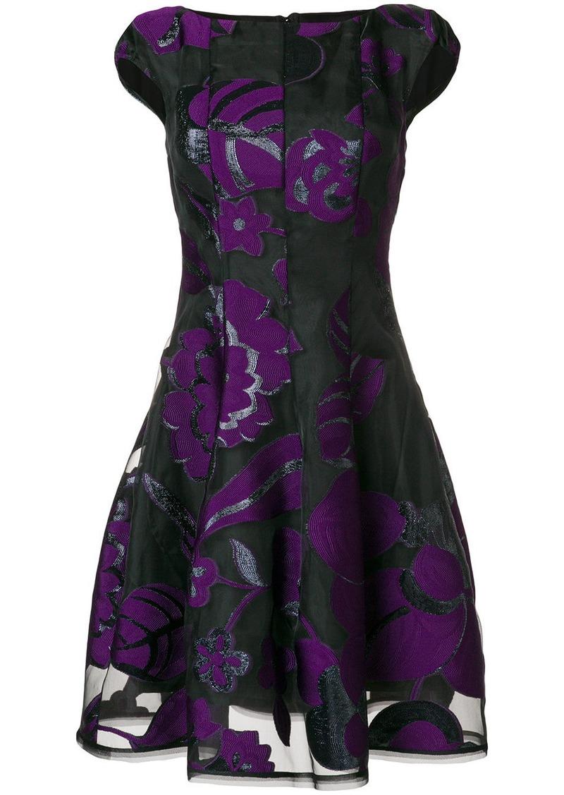 Talbot Runhof lamé jacquard dress