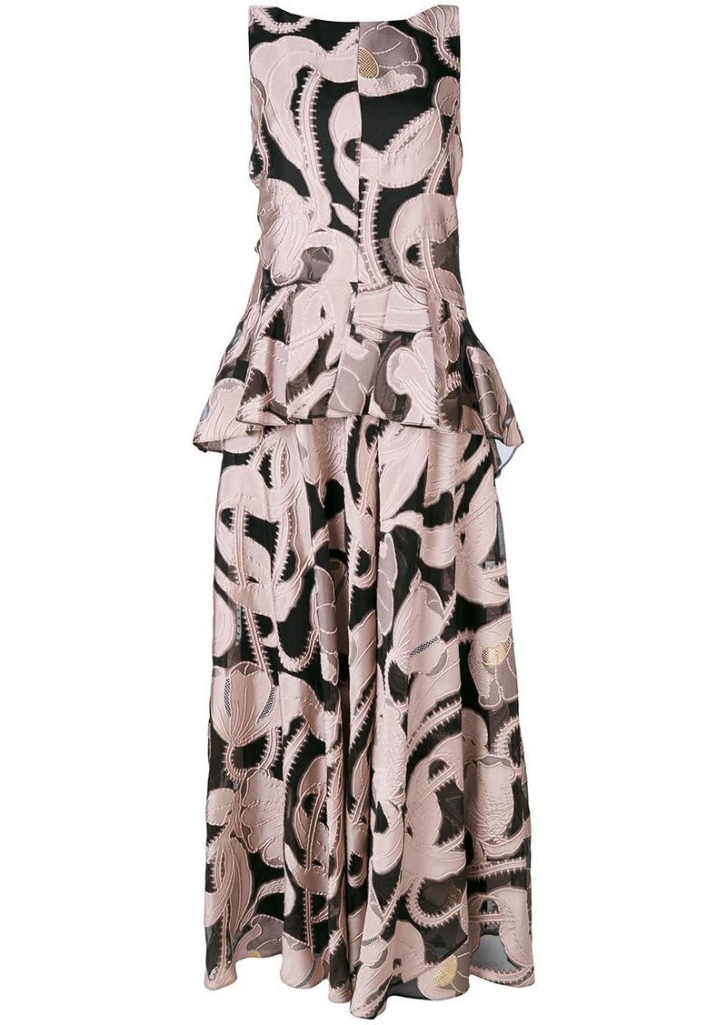 Talbot Runhof Lovato embroidered dress