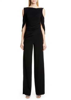 Talbot Runhof Pigalle Cold Shoulder Jumpsuit