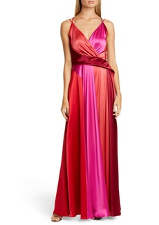 Talbot Runhof Satin Crepe Gown