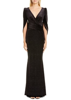 Talbot Runhof Stardust Stretch Velvet Gown