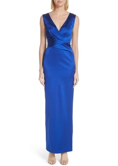 Talbot Runhof Stretch Duchess Satin Gown