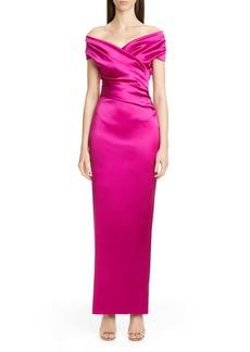 Talbot Runhoff Stretch Duchesse Satin Gown