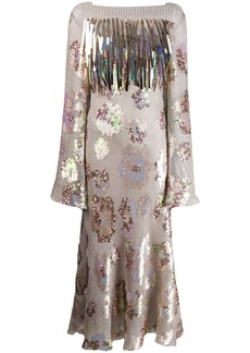 Talbot Runhof Tomala sequin flared dress