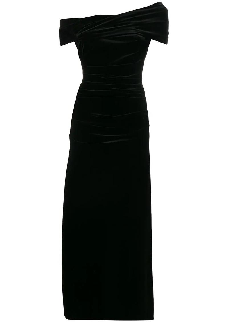 Talbot Runhof velvet long dress
