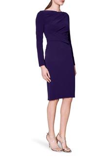 Women's Talbot Runhof Ruched Long Sleeve Crepe Body-Con Dress