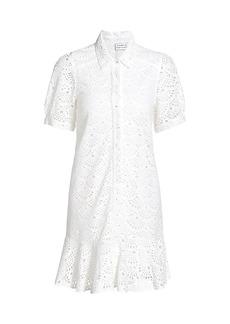 Tanya Taylor Aliciana Lace Shirt Dress