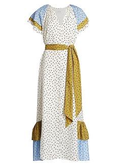 Tanya Taylor Celeste Multicolor Polka Dot Dress