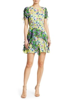 Tanya Taylor Corinne Floral Silk-Blend Dress