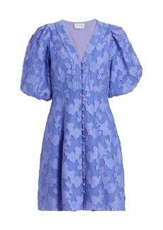 Tanya Taylor Darline Puff-Sleeve Dress