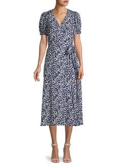 Tanya Taylor Dorothy Floral Silk Wrap Dress