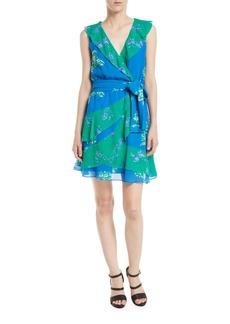 Tanya Taylor Elisa Floral Ruffle Faux-Wrap Dress