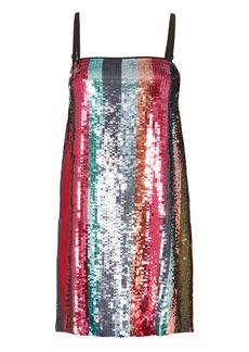 Tanya Taylor Erykah Sequin-Striped Mini Dress