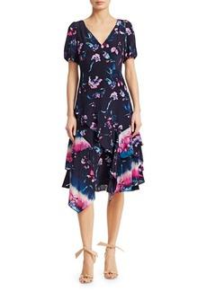 Tanya Taylor Estrella Floral Ruffle Dress