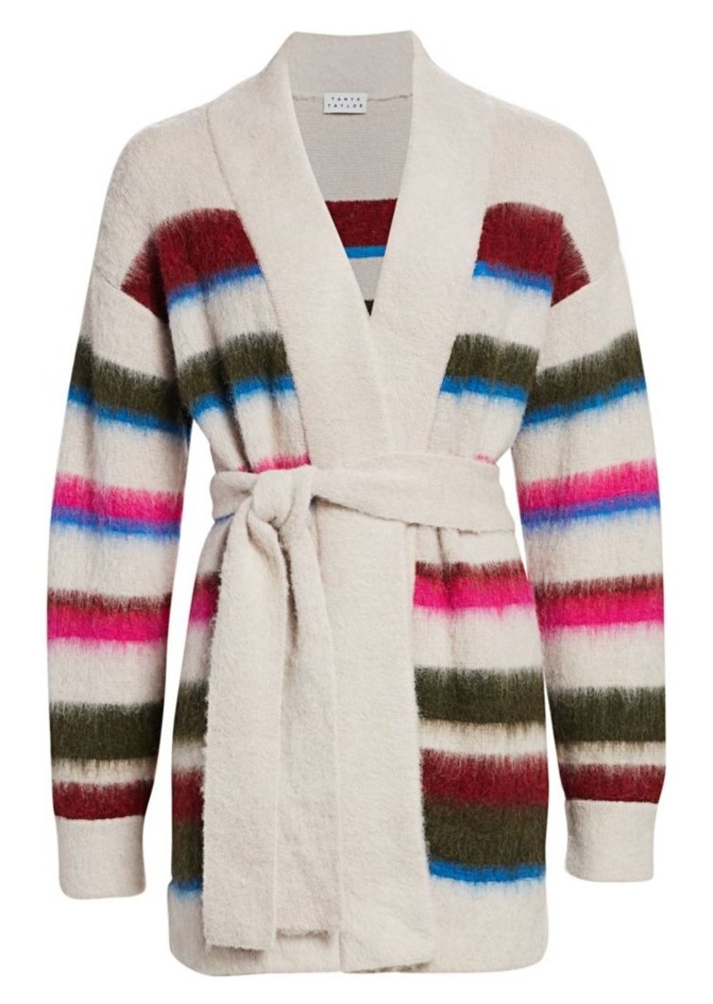 Tanya Taylor Farah Colorblock Knit Alpaca-Blend Cardigan