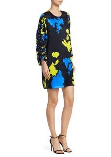 Tanya Taylor Florence Camo Print Silk Dress