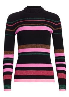 Tanya Taylor Hadley Mockneck Striped Pullover