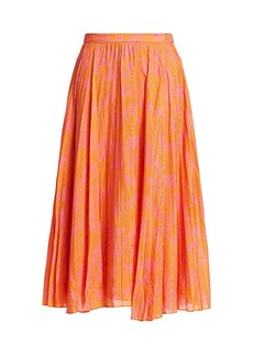 Tanya Taylor Jeana Pleated Skirt