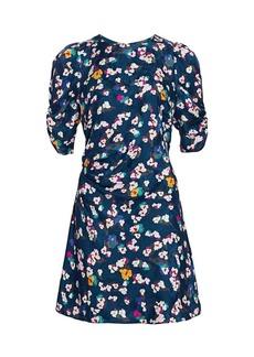 Tanya Taylor Liz Silk Floral Dress