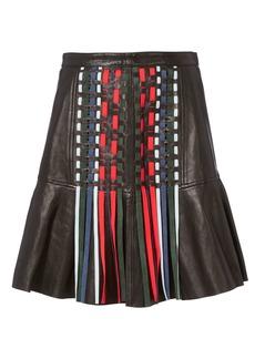Tanya Taylor Mattie Leather Mini Skirt