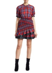 Tanya taylor nicole plaid ruffled hem dress abv2a3999e4 a
