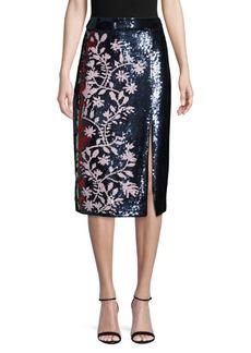 Tanya Taylor Sequin Embellished Skirt