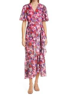 Tanya Taylor Blaire Floral Flutter Sleeve Dress (Regular & Plus Size)