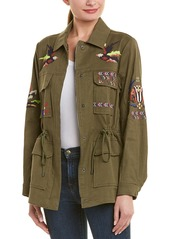 Tanya Taylor Embroidered Linen-Blend Jacket