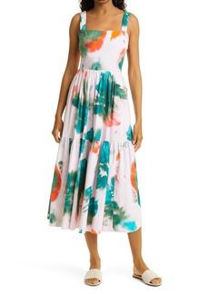 Tanya Taylor Gia Sleeveless Midi Dress
