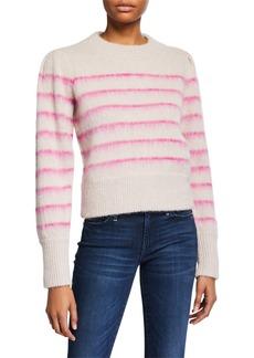 Tanya Taylor Sabela Striped Alpaca Sweater