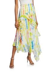 Tanya Taylor Teresa Tiered Ruffle Long Skirt
