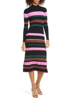 Tanya Taylor Velma Open Back Long Sleeve Sweater Dress