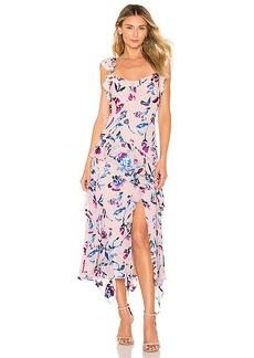 Tanya Taylor Violeta Tie Dye Floral Dress