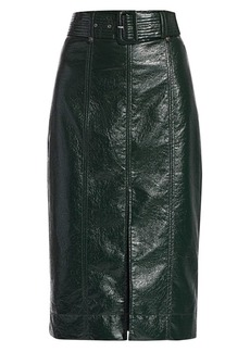 Tanya Taylor Veronica Faux Leather Pencil Skirt