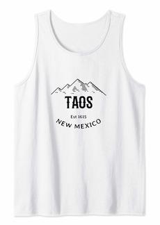 Original Vintage Taos New Mexico Mountains Graphic Design Tank Top