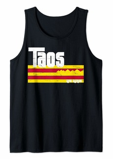 Taos New Mexico NM Retro Vintage Skiing Hiking Mountain Tank Top