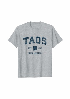 Taos New Mexico NM Vintage Sports Design Navy Print T-Shirt