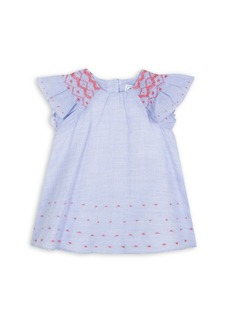 Tartine et Chocolat Baby Girl's & Little Girl's Micro Striped Embroidered Dress