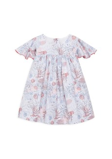 Tartine et Chocolat Baby's and Little Girl's Printed Flutter-Sleeve Dress