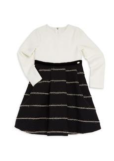 Tartine et Chocolat Little Girl's & Girl's Bi-Material Dress