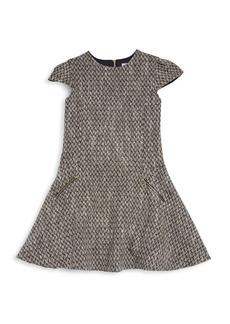 Tartine et Chocolat Little Girl's Cap Sleeve Fit-&-Flare Tweed Dress