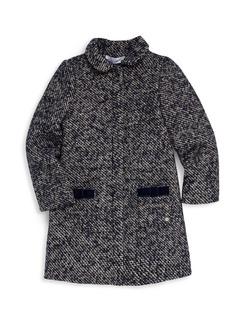 Tartine et Chocolat Little Girl's Chic Tweed Coat