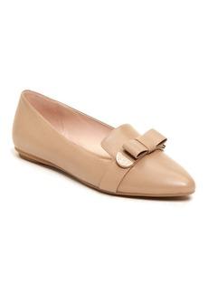 Taryn Rose Edith Bow Leather Flat