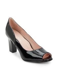 Taryn Rose Freddy Patent Leather Peep Toe Pumps
