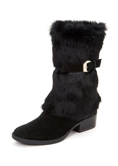 Taryn Rose Giselle Water-Resistant Suede & Faux-Fur Mid-Calf Boots