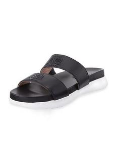 Taryn Rose Ina 2-Band Leather Slide Sandal