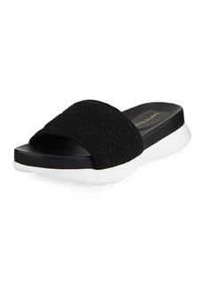Taryn Rose Iris Comfort Knit Pool Slide Sandals