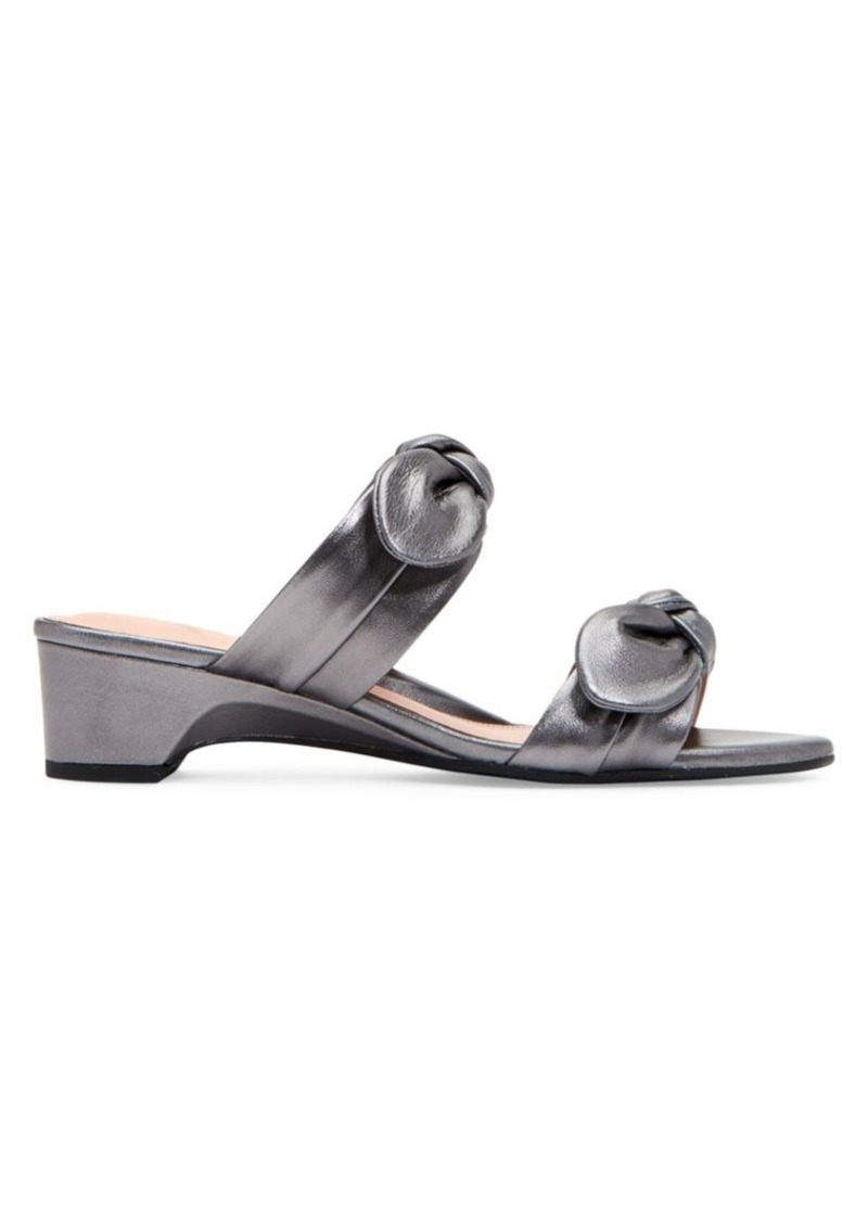 Taryn Rose Nanette Leather Heeled Sandals