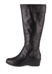 Taryn Rose Aiden Leather Demi-Wedge Knee Boot