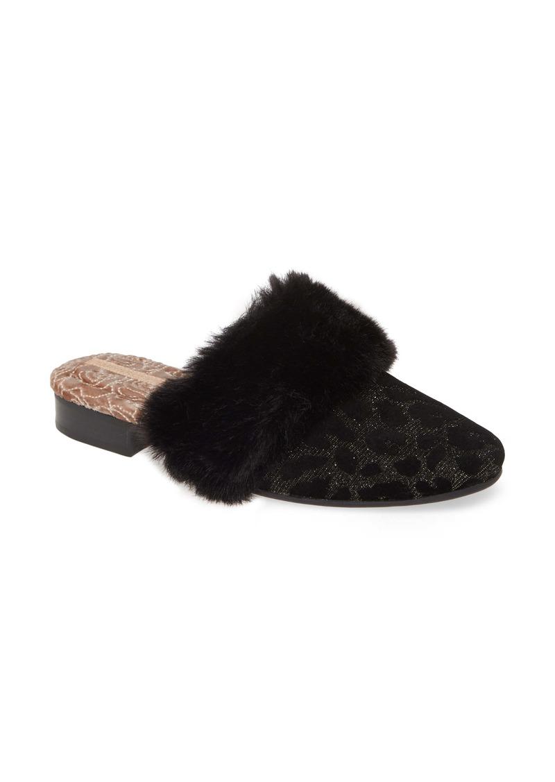 Taryn Rose Brailyn Faux Fur Trim Mule (Women)